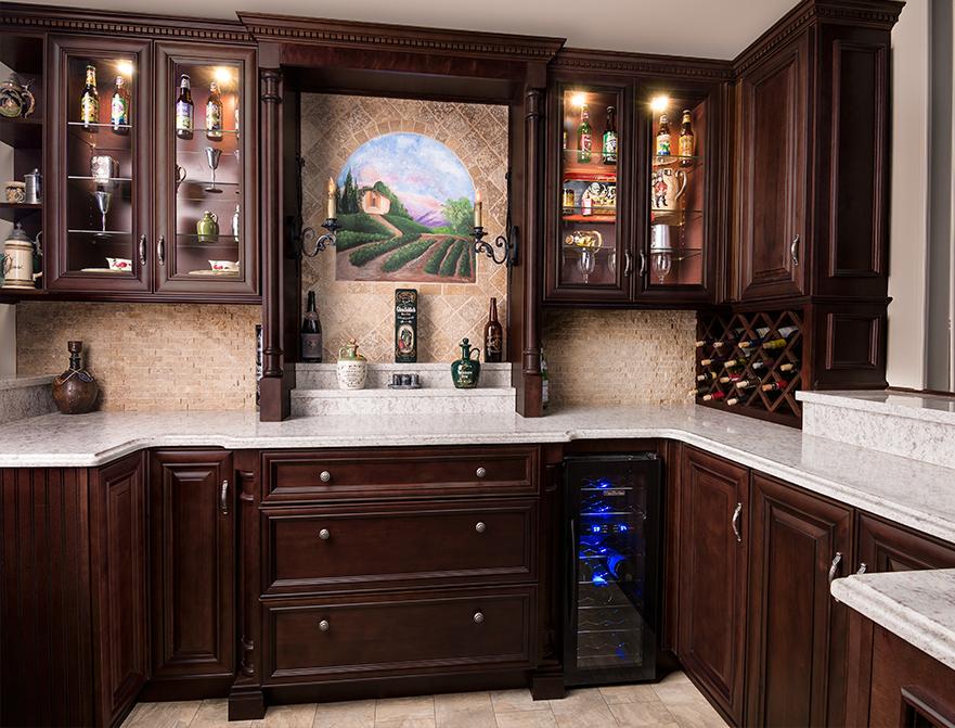 Elite Merlot Kitchen Forever Kitchen Cabinets